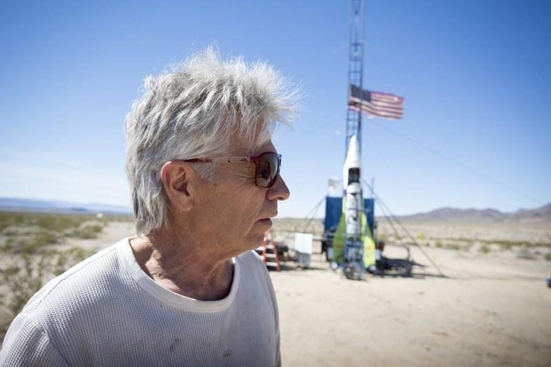 """Flat-earth conspiracy theorist """"Mad"""" Mike Hughes's first exploratory rocket didn't do much exploring."""