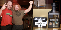 """<p>Made with Blue Weber Agave from Jalisco, Mexico, this smooth old world-style tequila blends earthy, white pepper and citrus aromas. Plus, it's got just a hint of smoky mezcal. The stuff is the brainchild of the Mayor of Flavortown and his rocker friend Sammy Hagar.</p><p><a class=""""link rapid-noclick-resp"""" href=""""https://go.redirectingat.com?id=74968X1596630&url=https%3A%2F%2Fwww.totalwine.com%2Fspirits%2Ftequila%2Fblanco-silver%2Fsanto-fino-blanco%2Fp%2F226841750&sref=https%3A%2F%2Fwww.delish.com%2Ffood%2Fg32949671%2Fcelebrity-alcohol-brands%2F"""" rel=""""nofollow noopener"""" target=""""_blank"""" data-ylk=""""slk:BUY NOW"""">BUY NOW</a> <em><strong>$41, totalwine.com</strong></em></p>"""