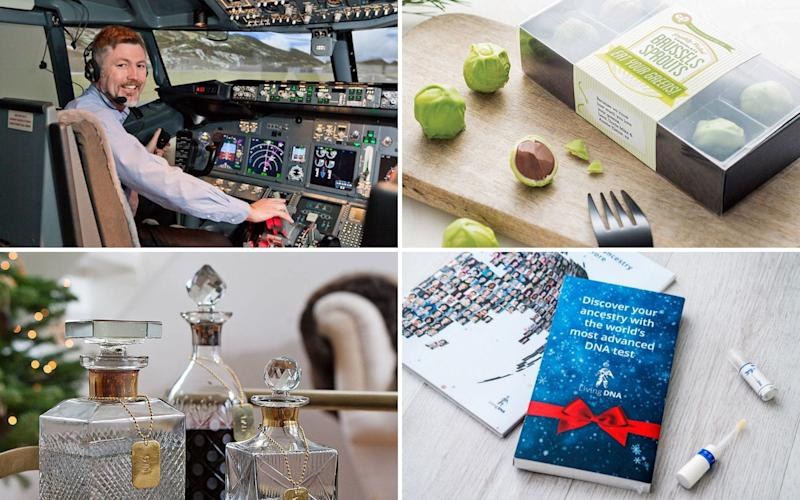 From the gift of flight to a box of Brussels sprouts with a twist, here's some of the most unusual Christmas presents to impress.