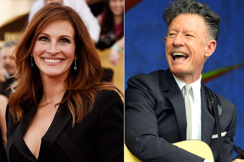 Julia Roberts and ex-husband Lyle Lovett reunite (sort of) on Hand to Hand telethon
