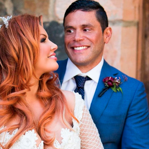 Sarah Rozza and Telv Williams on their wedding day on Married At First Sight. Source: Nine