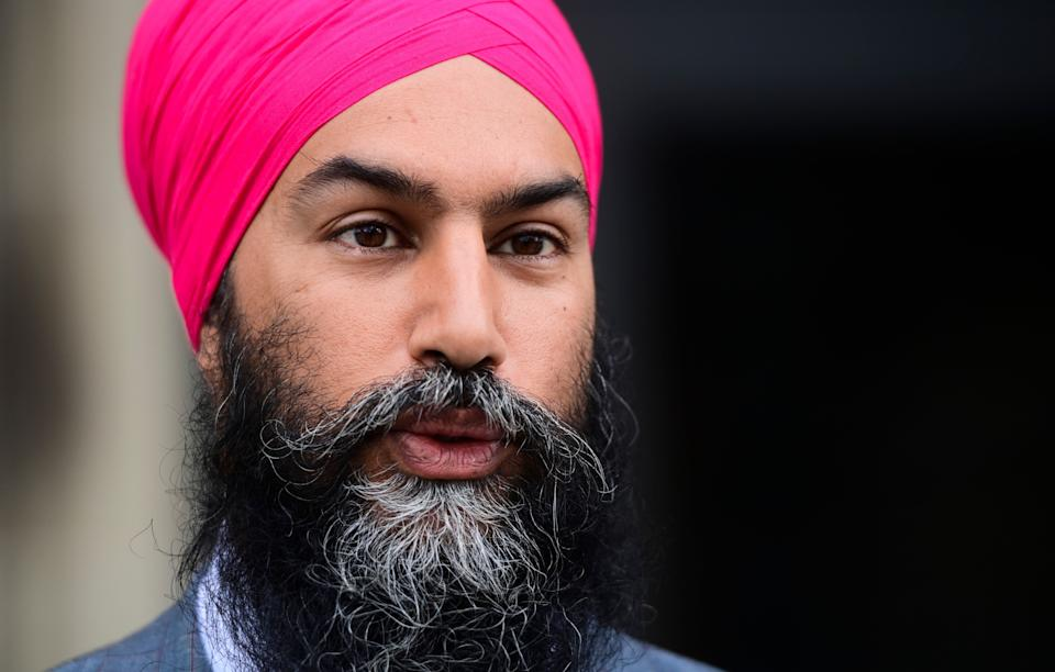 NDP Leader Jagmeet Singh arrives on Parliament Hill in Ottawa on Sept. 24, 2020.  (Photo: Sean Kilpatrick/The Canadian Press)