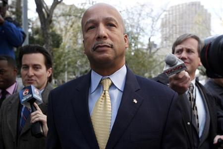 Former New Orleans Mayor Ray Nagin arrives at court in New Orleans