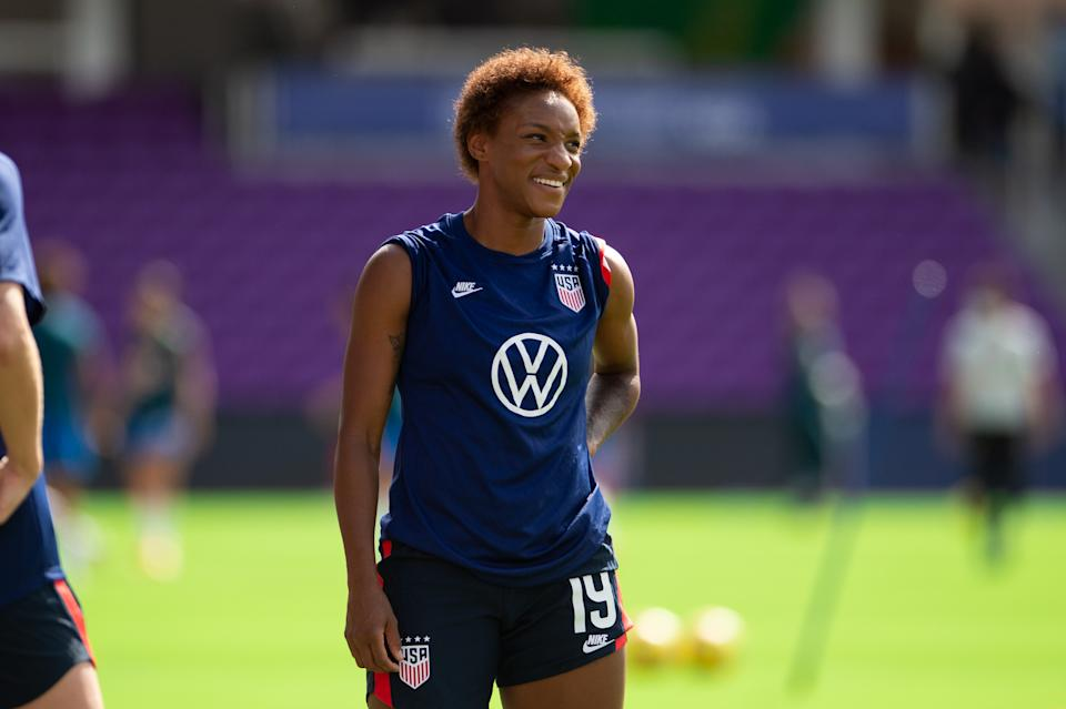 Crystal Dunn is the USWNT's most prominent Black player, and that representation is important. (Photo by Jeremy Reper/ISI Photos/Getty Images)