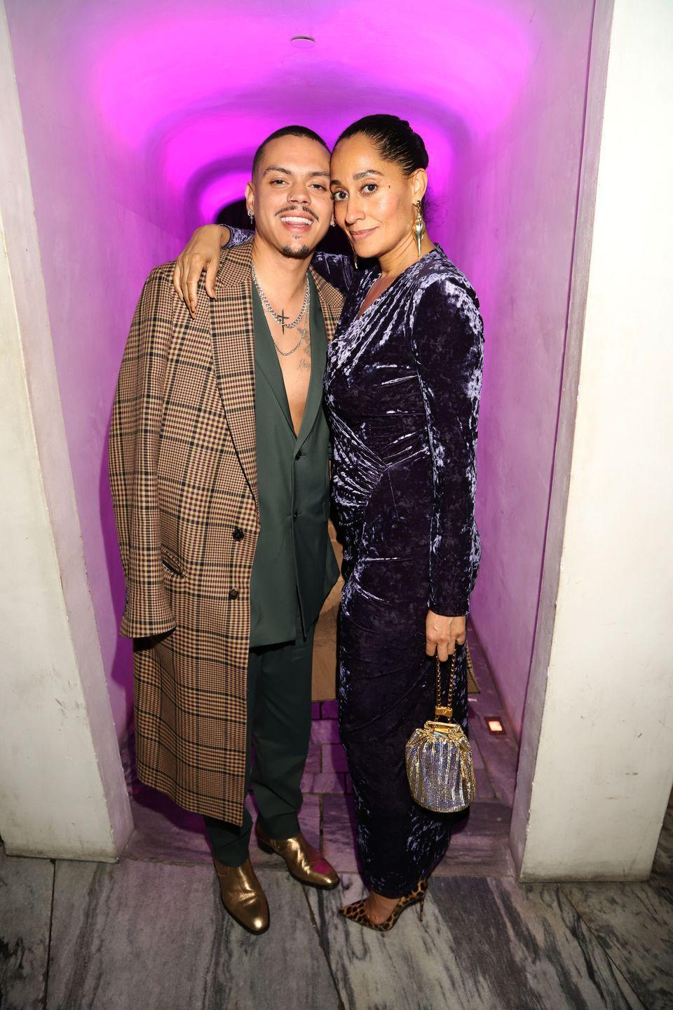 <p>Evan Ross and Tracee Ellis Ross are half-siblings but were both clearly blessed with their mother, Diana Ross's, good looks. Tracee is the daughter of Diana's first husband, Robert Ellis Silberstein, and Evan's father is Arne Naess Jr., the singer's second husband.</p>