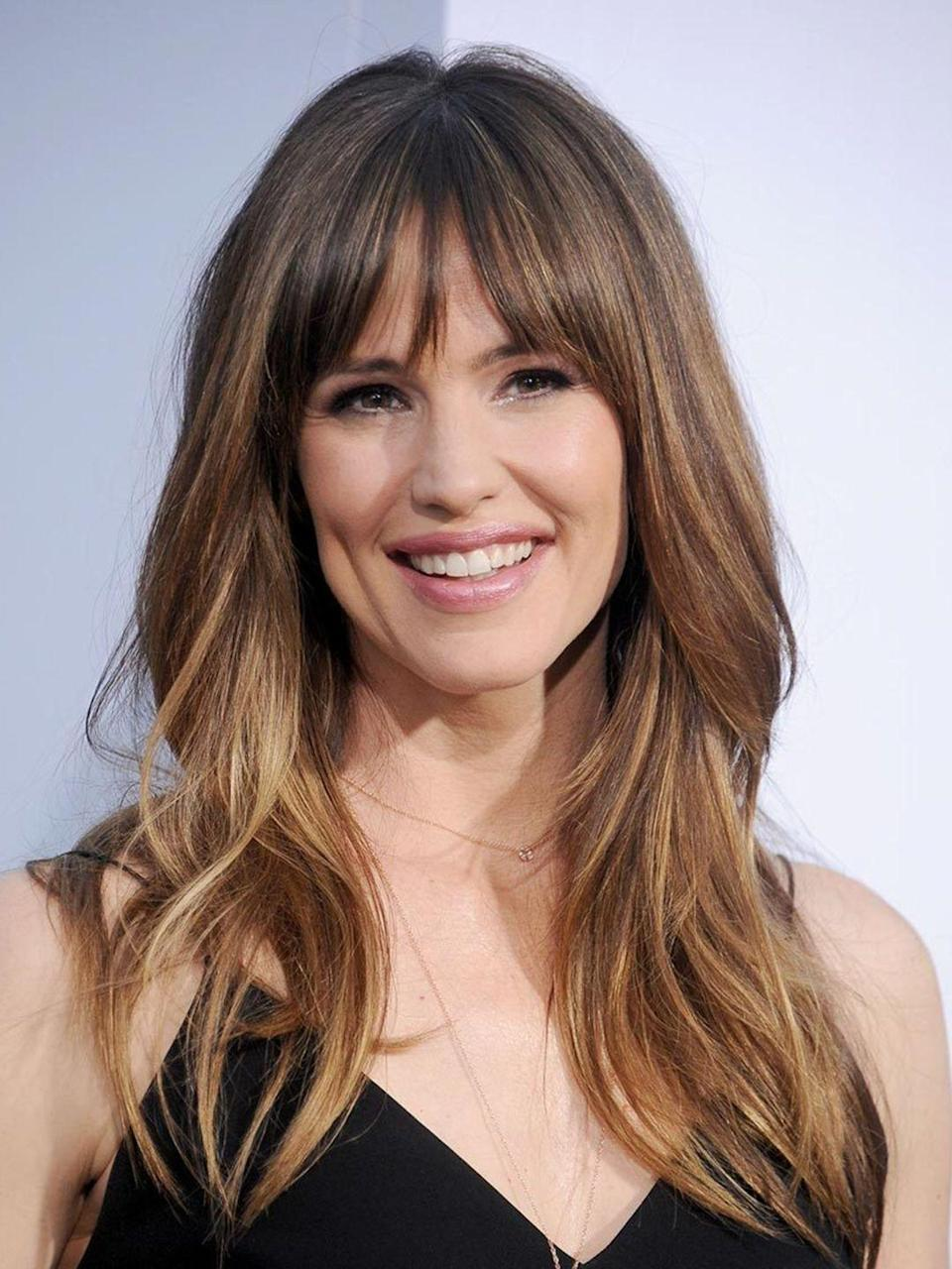 """<p>That fringe + cute smile = perfect girl next door look. The balayage keeps it looking modern and all you need is a good quality hairdryer to blowdry that fringe seriously smooth.</p><p><strong>ELLE Loves...</strong>T3 Featherweight Compact Hairdryer - £125 <a class=""""link rapid-noclick-resp"""" href=""""https://go.redirectingat.com?id=127X1599956&url=https%3A%2F%2Fwww.net-a-porter.com%2Fgb%2Fen%2Fproduct%2F649131%2FT3%2Ffeatherweight-compact-hairdryer&sref=https%3A%2F%2Fwww.elle.com%2Fuk%2Fbeauty%2Fhair%2Fg14897%2Ffringe-benefits%2F"""" rel=""""nofollow noopener"""" target=""""_blank"""" data-ylk=""""slk:SHOP NOW"""">SHOP NOW</a></p>"""