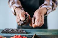 <p>Unless you're into dull flavor and grainy consistency, do not keep chocolate cold in your fridge. It tends to have maximum flavor at room temperature and should be stored somewhere dark and dry.</p>