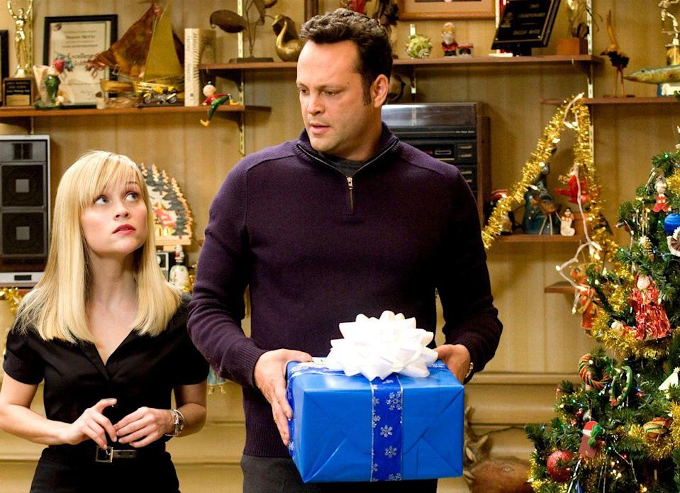 "<p>One holiday is stressful enough. Reese Witherspoon and Vince Vaughn's Kate and Brad endure four—each filled with kooky relatives and parent-inflicted humiliation—in Seth Gordon's merry little cringe fest, which steals belly laughs despite a seriously flawed script. <a class=""link rapid-noclick-resp"" href=""https://www.amazon.com/dp/B002N1ES2K?tag=syn-yahoo-20&ascsubtag=%5Bartid%7C10056.g.13152053%5Bsrc%7Cyahoo-us"" rel=""nofollow noopener"" target=""_blank"" data-ylk=""slk:Watch Now"">Watch Now</a></p>"