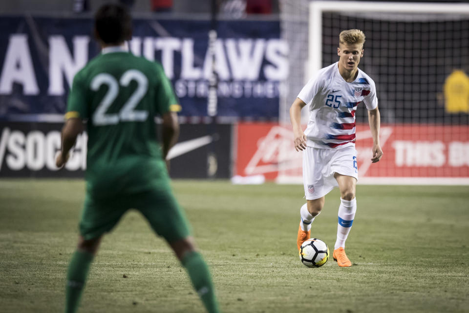 Keaton Parks, 20, made his U.S. national team debut against Bolivia on Monday. (Getty)