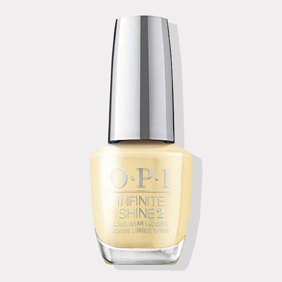 "<p><strong>OPI</strong></p><p>amazon.com</p><p><strong>$13.00</strong></p><p><a href=""https://www.amazon.com/dp/B08P6VLY8C?tag=syn-yahoo-20&ascsubtag=%5Bartid%7C10072.g.35927219%5Bsrc%7Cyahoo-us"" rel=""nofollow noopener"" target=""_blank"" data-ylk=""slk:Shop Now"" class=""link rapid-noclick-resp"">Shop Now</a></p><p>When life gives you lemons, Gemini, make lemonade (or just paint your nails yellow). This cheery pastel may help you channel your innate optimism and stay positive. Yellow, your power color, is said to foster clear and effective communication.</p>"
