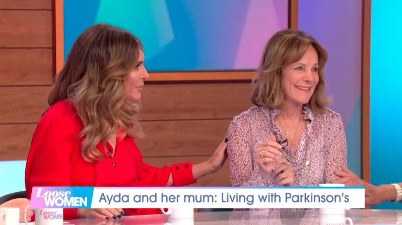 Ayda Field and her mother, Gwen, discuss Parkinson's on 'Loose Women'. (Credit: ITV)