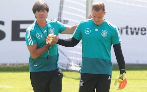 "Here we take a look at Germany's World Cup squad and the other things it will be handy to know about the Group F challengers. Germany's World Cup squad - the 23 names Leroy Sane was left out of Germany's final World Cup squad - here are those who did make it: Goalkeepers: Manuel Neuer (Bayern Munich), Marc-Andre ter Stegen (Barcelona), Kevin Trapp (Paris St Germain). Defenders: Jerome Boateng (Bayern Munich), Matthias Ginter (Borussia Moenchengladbach), Jonas Hector (Cologne), Mats Hummels (Bayern Munich), Joshua Kimmich (Bayern Munich), Marvin Plattenhardt (Hertha Berlin), Antonio Ruediger (Chelsea), Niklas Suele (Bayern Munich). Midfielders: Julian Brandt (Bayer Leverkusen), Julian Draxler (Paris St Germain), Leon Goretzka (Schalke 04), Ilkay Gundogan (Manchester City), Sami Khedira (Juventus), Toni Kroos (Real Madrid), Marco Reus (Borussia Dortmund), Sebastian Rudy (Bayern Munich), Mesut Ozil (Arsenal). Forwards: Mario Gomez (VfB Stuttgart), Thomas Mueller (Bayern Munich), Timo Werner (RB Leipzig). Das ist der finale Kader für die #WM2018 ���� ⚽#DieMannschaft#ZSMMNpic.twitter.com/tvaIKLiEuz— Die Mannschaft (@DFB_Team) June 4, 2018 Who do they play and when? Mexico: Sunday, June 17 at 4pm Sweden: Saturday, June 23 at 7pm South Korea: Wednesday, June 27 at 3pm What odds are Germany to win the World Cup? 9/2 Who's the coach? Joachim Low, who has ""issued a sex ban"" to his players for the duration the World Cup. Excellent coach, noted touchline nose-picker. The question everyone wants to know before #POR#GER is - will Joachim Löw pick his nose and eat it again? #WorldCuppic.twitter.com/5kTO3ELtMa— 90min (@90min_Football) June 16, 2014 Who's the star? Quality throughout, but the intelligent, metronomic and stylish Toni Kroos of Real Madrid is perhaps the most vital cog. Joachim Loew has a squad full of quality, making Germany the favourites for this summer's tournament Credit: Getty Images Best thing about them Serial winners: they are the champions, and holders of the Confederations Cup as well. Went unbeaten in 2017. Worst thing about them Other than having to face them on penalties? Talismanic goalkeeper Manuel Neuer is only just on the way back from a serious foot injury. You may recognise… The familiar sight of men with bad hair celebrating uproariously? Or perhaps an even more effective Mesut Ozil? Full 2018 World Cup squad lists and guides 