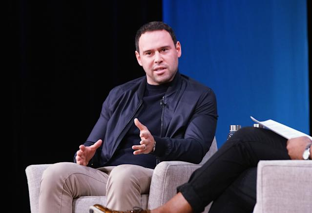 Scooter Braun speaks in New York City in 2018. (Bennett Raglin/Getty Images for Fast Company)