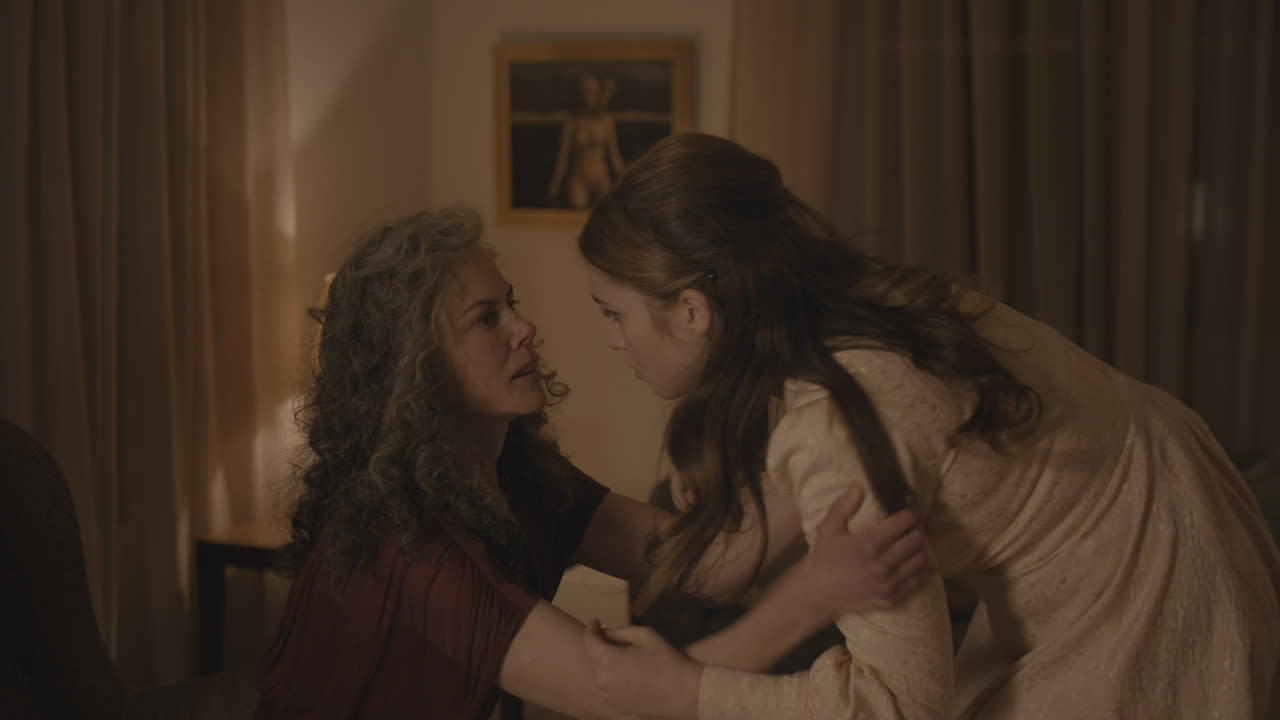 <p>Nicole Kidman as Julia and Alice Englert as Mary in Sundance TV's 'Top of the Lake: China Girl'<br /> (Photo: Sally Bongers/See-Saw Films) </p>