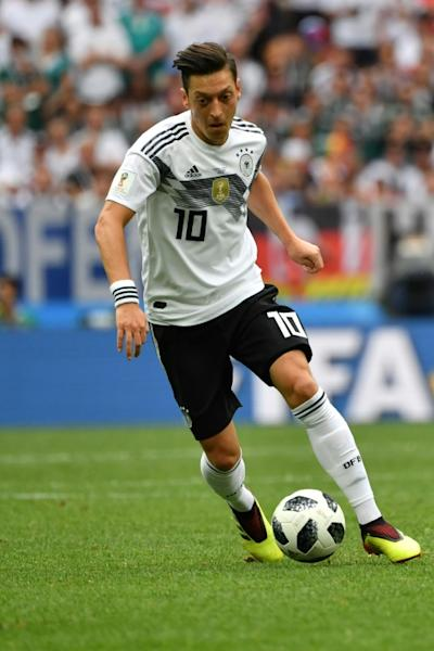Mesut Ozil in action for Germany during their disastrous World Cup campaign