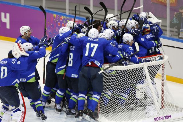 Slovenia's miracle on ice continues; 'Now, we're going for gold medal'