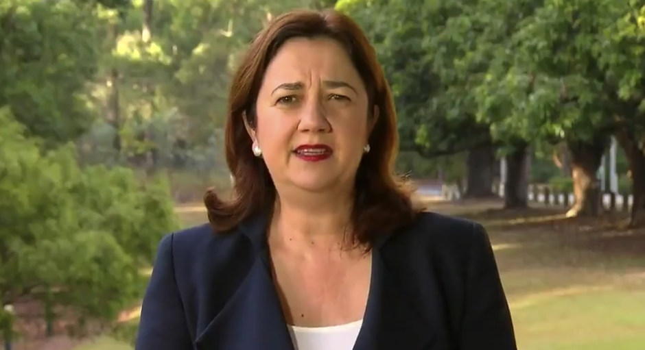 Ms Palaszczuk said Queensland's borders won't be opening until NSW and Victoria can reduce community transmission of the virus. Source: Today