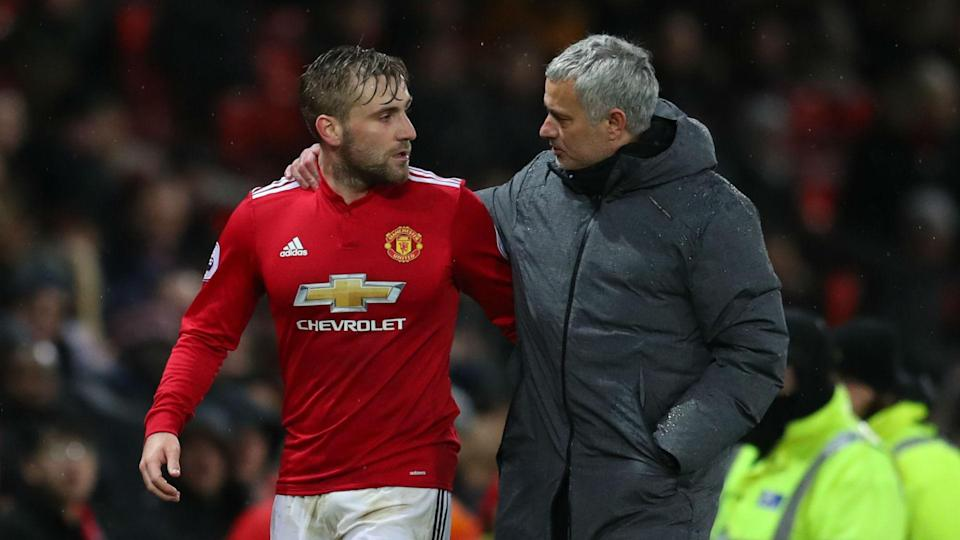 Mixed messages: Luke Shaw could leave Old Trafford this summer