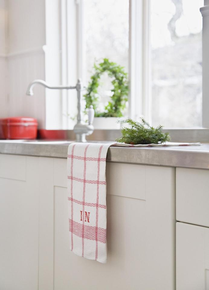 """<p>They might not <em>look </em>dirty, but dish towels were deemed the most contaminated spot in the kitchen in a <a href=""""http://www.goodhousekeeping.com/home/cleaning/news/a32256/germs-on-dish-towels/"""" target=""""_blank"""">USDA-funded study</a>. And the same goes for the <a href=""""http://www.goodhousekeeping.com/home/cleaning/tips/a26175/how-often-wash-towels/"""" target=""""_blank"""">small towels in your bathroom</a>, according to Carolyn Forte, director of the Cleaning Lab at the <a class=""""body-el-link standard-body-el-link"""" href=""""http://www.goodhousekeeping.com/institute/about-the-institute/a16265/about-good-housekeeping-research-institute/"""" target=""""_blank"""">Good Housekeeping Institute</a><span class=""""redactor-invisible-space"""">: """"Hand towels get dirtier faster since you use them more than once per day. They should be changed every couple days, or even every day, if you have a large family.""""</span></p>"""