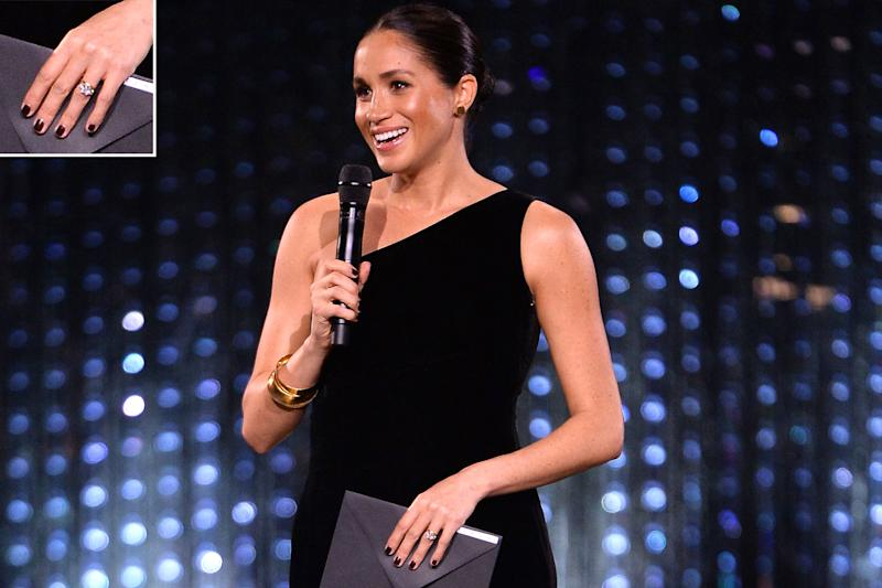 f4e99f282b 5 Chic Dark Nail Polishes Inspired by Meghan Markle's Royal Rule-Breaking  Beauty Moment