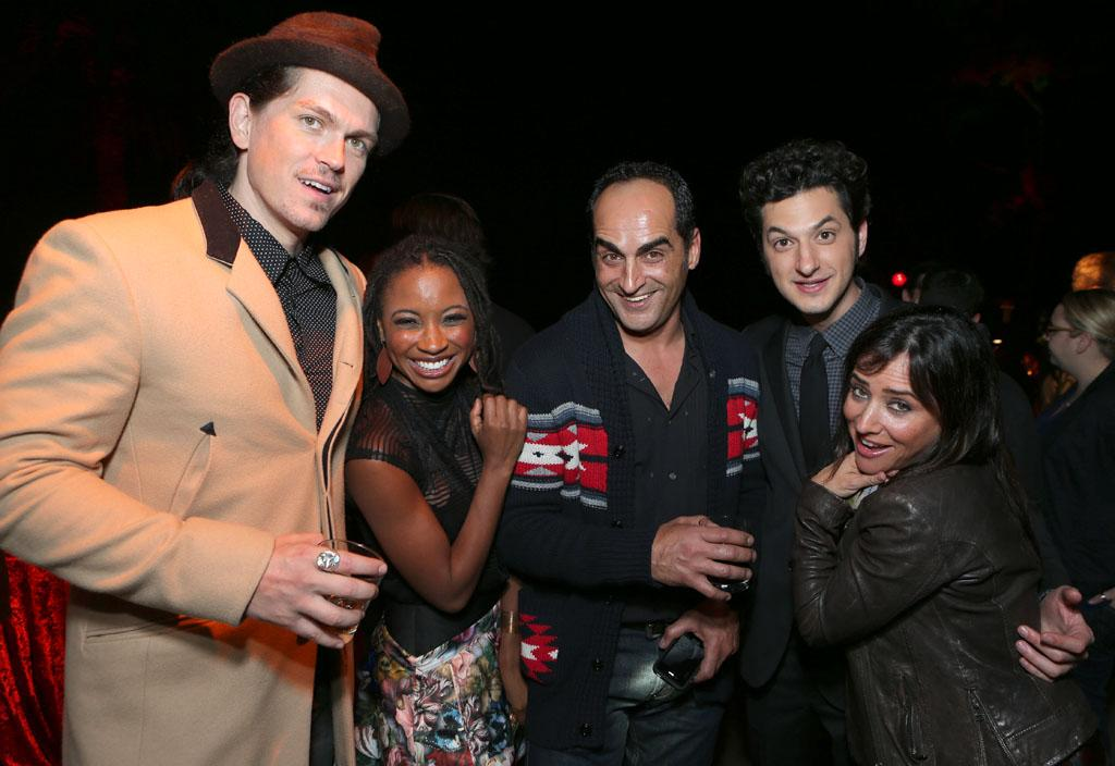 Steve Howey, Shanola Hampton, Navid Negahban, Ben Schwartz and Pamela Adlon at Showtime's 7th Annual Holiday Soiree on December 3, 2012 in Beverly Hills, California.
