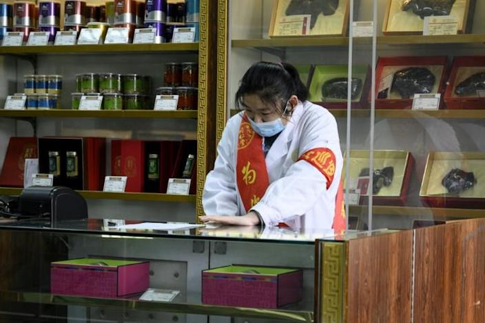 Traditional Chinese medicines have been touted as treatment for the coronavirus (AFP Photo/NOEL CELIS)
