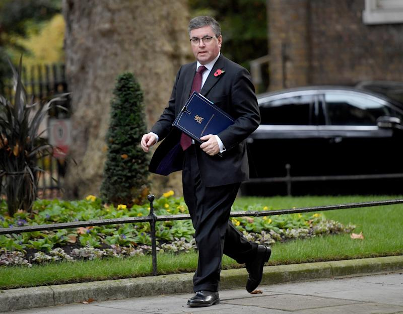 Justice Secretary Robert Buckland arrives for a Cabinet meeting in Downing Street, London.