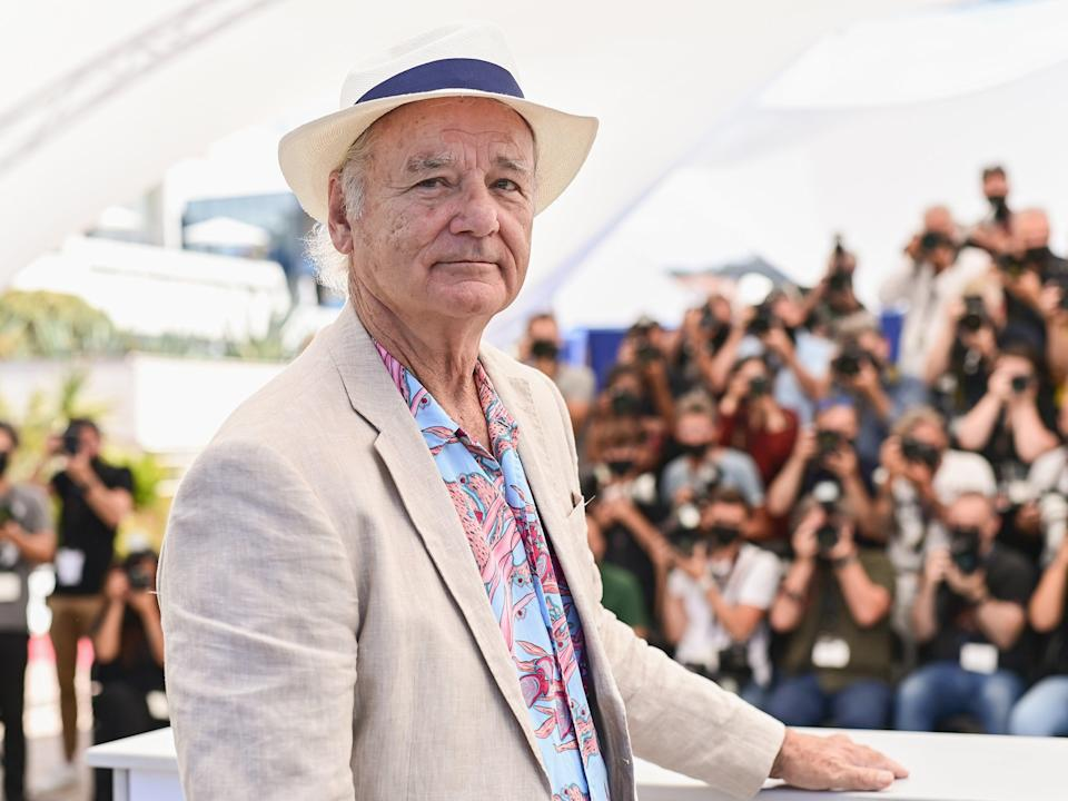 Bill Murray at a photocall for 'New Worlds: The Cradle Of Civilization' during the 74th annual Cannes Film Festival on 16 July 2021 (Pascal Le Segretain/Getty Images)