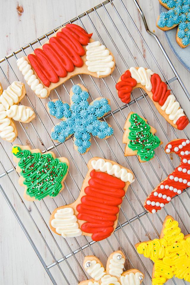 "<p>You can't <em>not </em>make these come Christmastime.<em></em></p><p>Get the recipe from <a href=""https://www.delish.com/cooking/recipe-ideas/recipes/a50502/basic-sugar-cookies-recipe/"" target=""_blank"">Delish</a>.</p>"