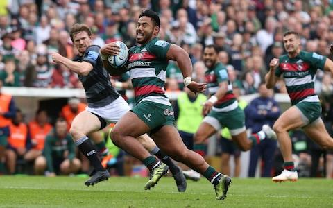 <span>Manu Tuilagi is contracted to the Leicester Tigers until June 2021</span> <span>Credit: GETTY IMAGES </span>