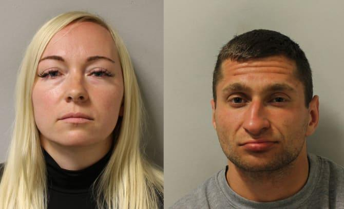 Asta Juskauskiene, 35, (L) hatched a plan with her lover 25-year-old lover Mantas Kvedaras (Picture: Met Police)