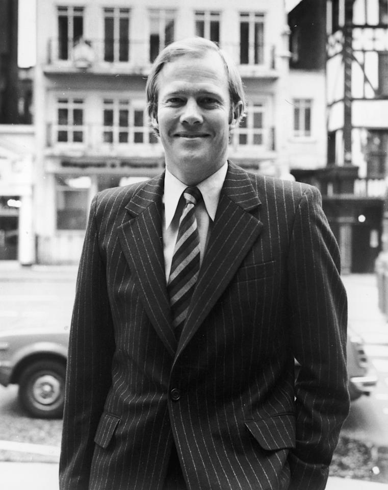 England captain Tony Greig in London during the Packer case at the High Court, 30th September 1977. Greig lost his captaincy for his attempts to sign up other cricketers for Australian media tycoon Kerry Packer's commercial cricket 'circus'.  (Photo by Rob Taggart & Monti Spry/Central Press/Hulton Archive/Getty Images)