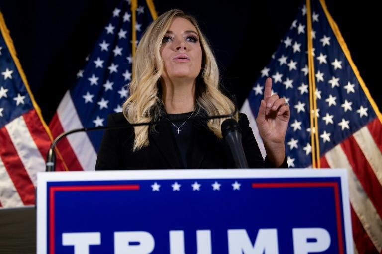 White House Press Secretary Kayleigh McEnany speaks during a press conference at the headquarters of the Republican National Committee in Washington