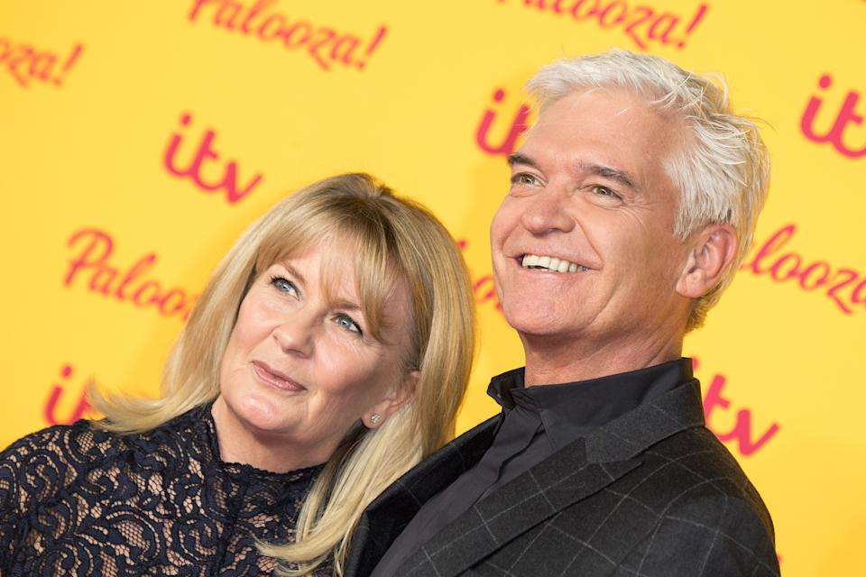 LONDON, ENGLAND - OCTOBER 16:  (L-R) Stephanie Lowe and Phillip Schofield attend the ITV Palooza! held at The Royal Festival Hall on October 16, 2018 in London, England.  (Photo by Jeff Spicer/WireImage)
