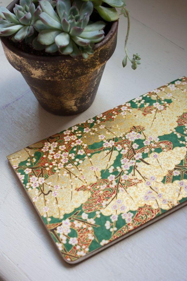 """<p>If you don't want to spend money on a cute notebook, wrap a plain notebook with origami paper to create a treasured journal. </p><p><em><a href=""""http://thesarahjohnson.com/2015/03/17/how-to-patterned-notebook/"""" rel=""""nofollow noopener"""" target=""""_blank"""" data-ylk=""""slk:Get the tutorial at Sarah Johnson »"""" class=""""link rapid-noclick-resp"""">Get the tutorial at Sarah Johnson »</a></em> </p>"""