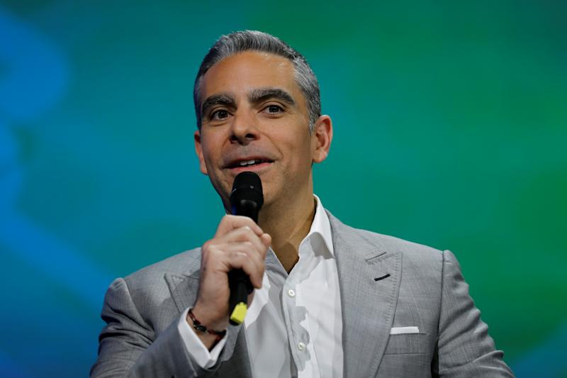 David Marcus, Vice President of Messaging Products at Facebook, speaks at the Viva Technology event in Paris, France, July 1, 2016. REUTERS/Benoit Tessier