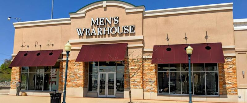 Dayton, Ohio - April 26, 2018: Men's Wearhouse location near the Dayton Mall. The clothing chain specializes in suit sales and rentals.