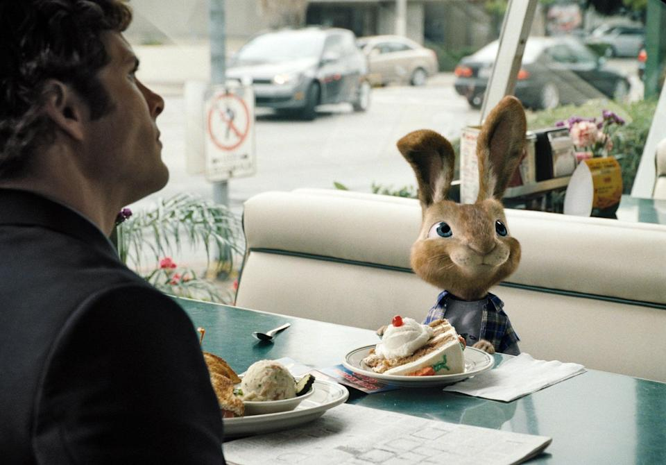 """<p><b>What It's About:</b> """"A jobless slacker finds himself beyond busy after he runs over the Easter Bunny and has to take over the rabbit's duties so the holiday can continue.""""</p> <p><a href=""""https://www.netflix.com/title/70142824"""" class=""""link rapid-noclick-resp"""" rel=""""nofollow noopener"""" target=""""_blank"""" data-ylk=""""slk:Stream Hop on Netflix here!"""">Stream <b>Hop</b> on Netflix here!</a></p>"""