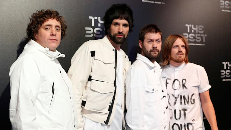 Tom Meighan (second from right) is a founding member of Kasabian but quit the day before he appeared in court