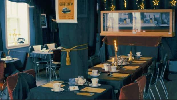 The Route 66 Diner & Pub was transformed into the Titanic's dining room for two soldout shows.