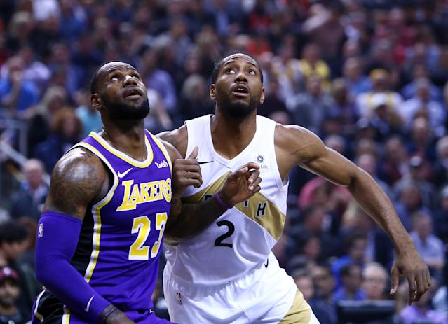 The best team in the West may be in Los Angeles. Will it be Kawhi Leonard's or LeBron James' squad? (Photo by Vaughn Ridley/Getty Images)