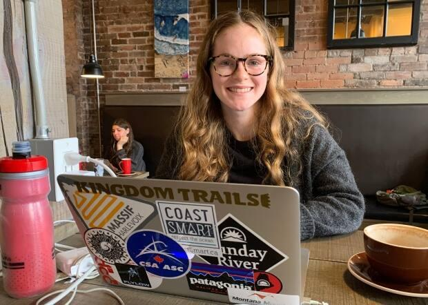 Mariyln Sheen is taking courses online at the University of Guelph and comes to Kettle Black to study most days because she gets too distracted at home.