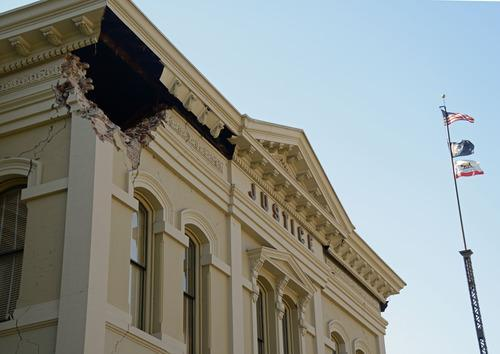 napa earthquake hall of justice damage