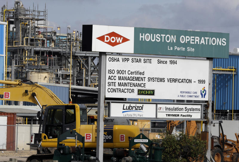 Dow Chemical sales slide less than expected