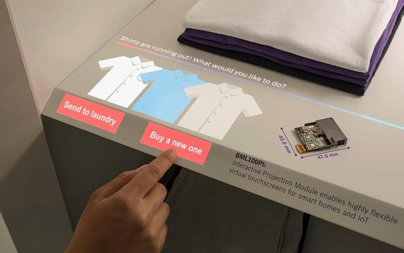 Bosch's laser projector screen can turn surfaces into touch screens - Bosch