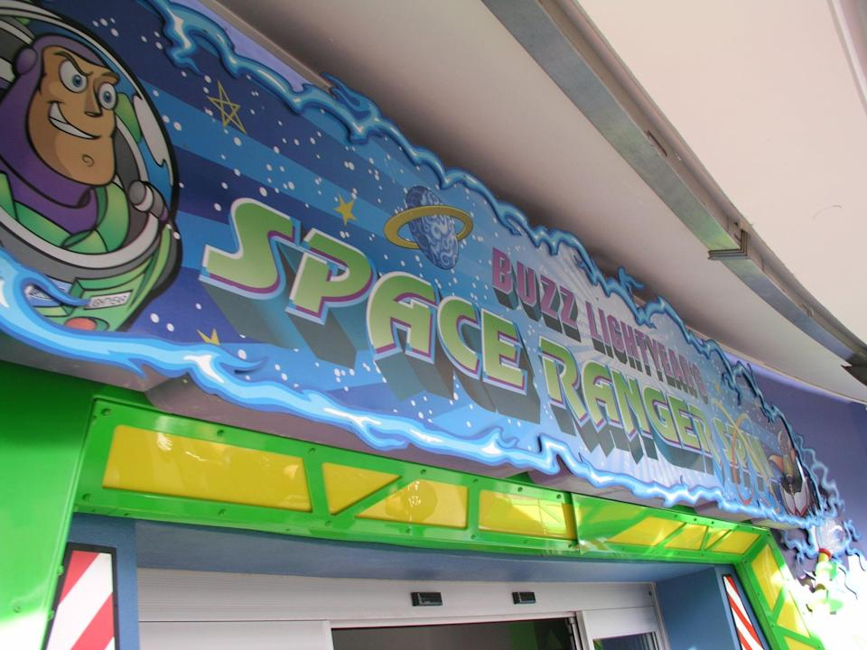 """<p>""""There are two targets that'll help you win. In the first room, find the left arm of the left robot and hit it for 100,000 points. When you're on Planet Z and you finally see evil Zurg, aim for the target at the bottom of his space scooter for another 100,000 points."""" - <a href=""""http://www.quora.com/Tom-Nikl"""" class=""""link rapid-noclick-resp"""" rel=""""nofollow noopener"""" target=""""_blank"""" data-ylk=""""slk:Quora user Tom Nikl"""">Quora user Tom Nikl</a></p>"""
