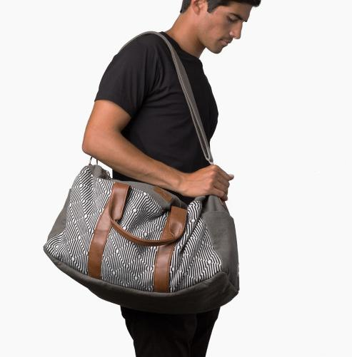 "<p>Finding the perfect travel bag is on every globetrotter's mind, so help in the search by purchasing this fashionable <a href=""https://www.krochetkids.org/shop/the-pike/?utm_source=shareasale.com&utm_medium=referral&utm_campaign=afilliate"">weekender bag</a> from krochet kids. The cotton and canvas bag is made with vegan leather straps by artisans in Peru, where krochet kids employs, educates, and mentors local women. <i>(Photo: krochet kids)</i></p><p>Cost: $124.95</p>"