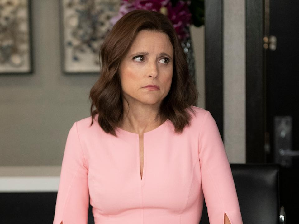 Louis-Dreyfus as Selina Meyer in the hit political comedy 'Veep'HBO