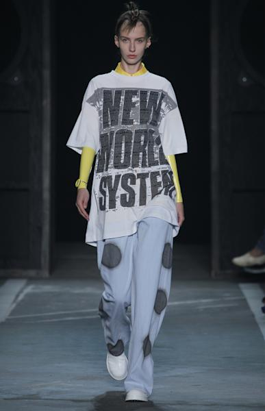 The latest Marc by Marc Jacobs collection included a number of androgynous ensembles.