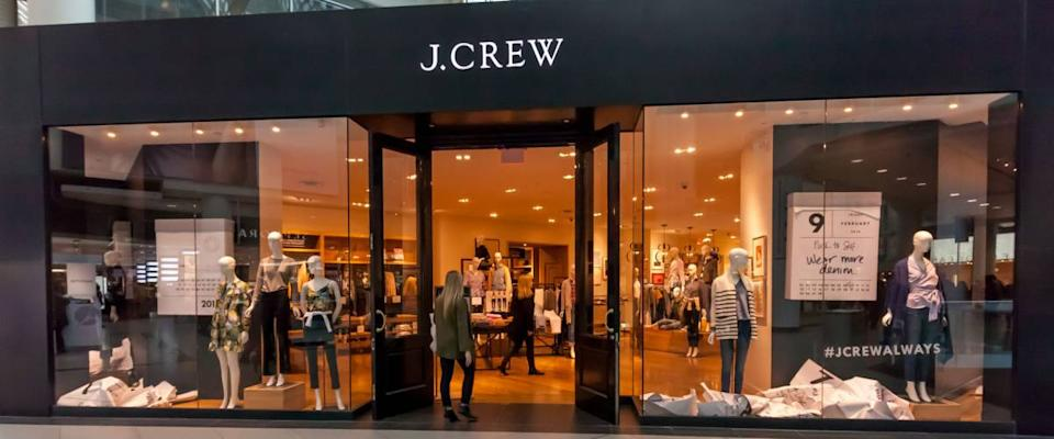 Toronto, Canada - February 10, 2018: J.Crew storefront in the Eaton Centre shopping mall in Toronto. J.Crew Group, Inc., is an American multi-brand, multi-channel, specialty retailer.